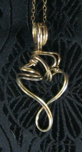 Sterling silver and gold filled freeform necklace